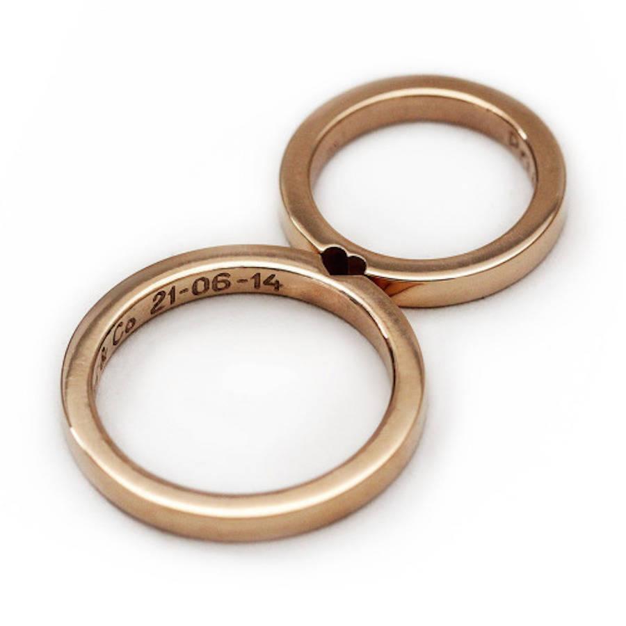 Cute Matching Wedding Rings