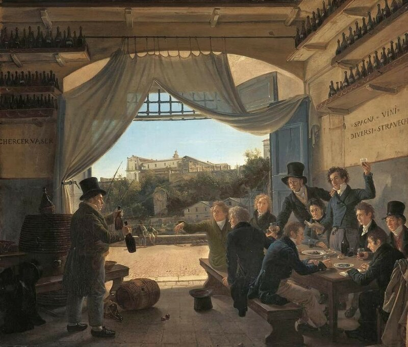 2 Franz_Ludwig_Catel_-_Crown_Prince_Ludwig_in_the_Spanish_Wine_Tavern_in_Rome_-_WGA4567.jpg
