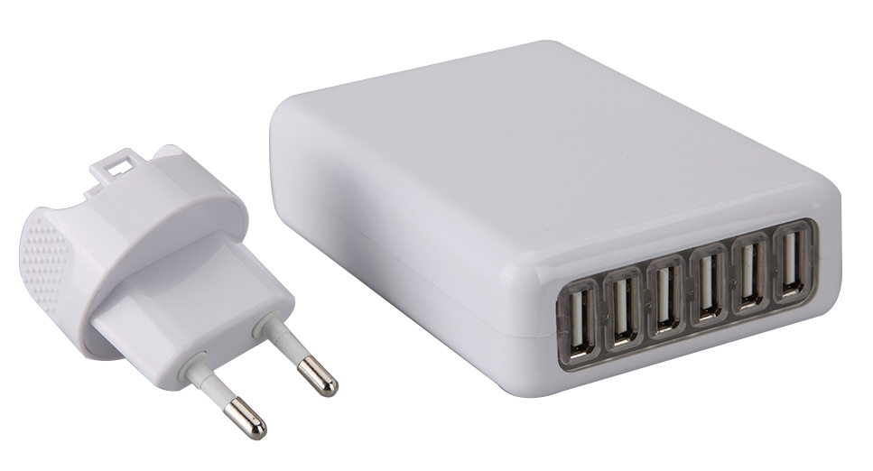 Universal 4A AC Power Adapter 6-Port USB