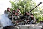 Грузинские войска. Отход из Гори