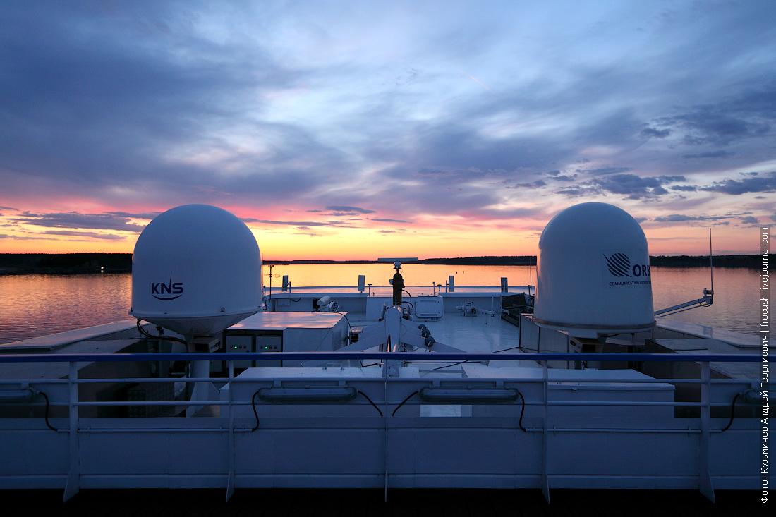 вечернее фото закат Волга