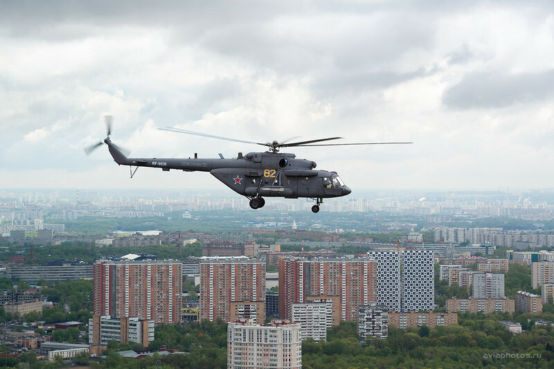 Миль Ми-8АМТШ (RA-91136 / 82 желтый) ВКС России D802881