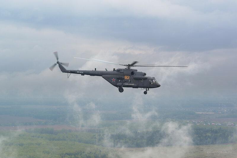 Миль Ми-8АМТШ (RA-91136 / 82 желтый) ВКС России D802899b