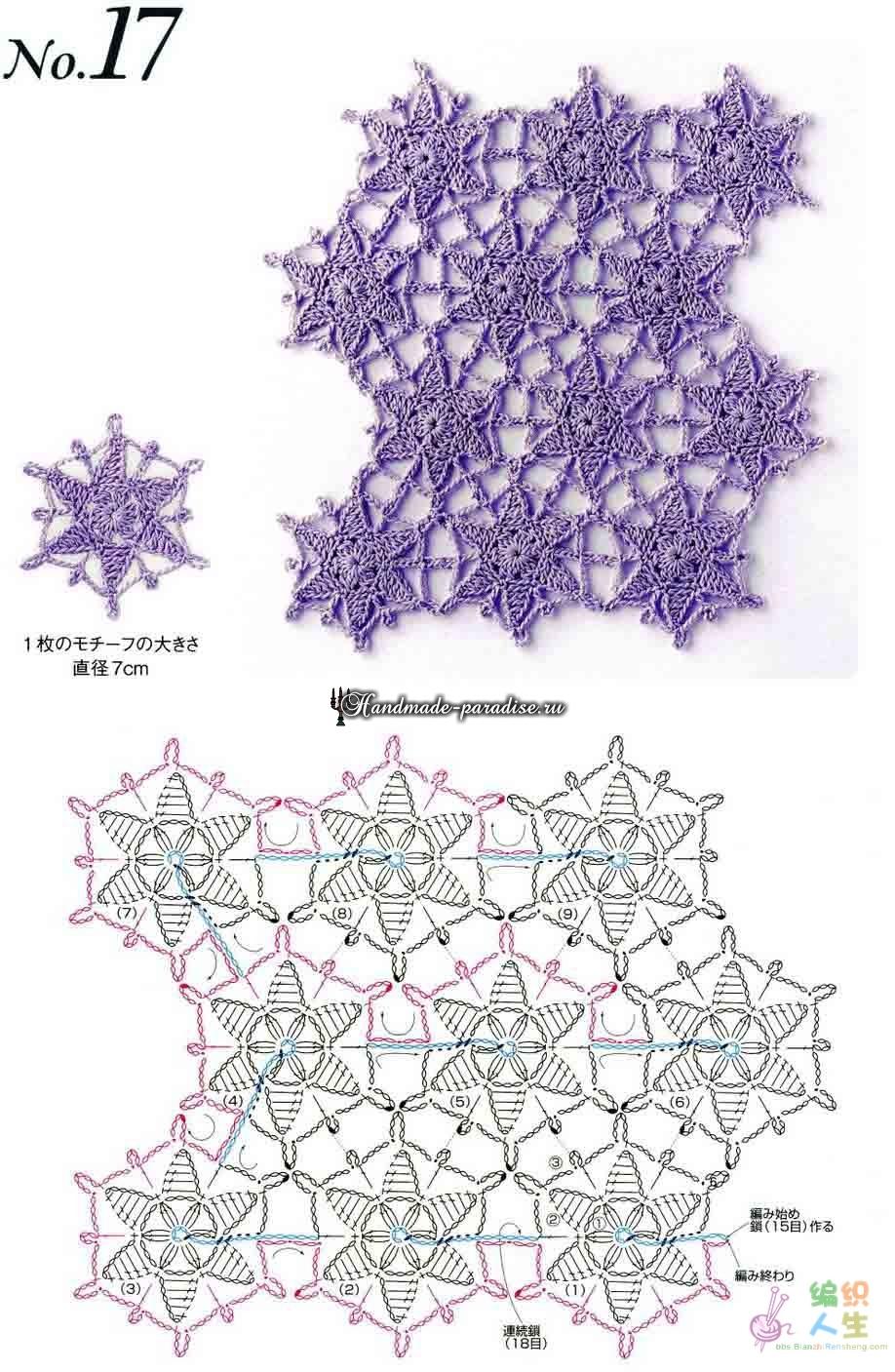 Расшифровка китайских схем вязания