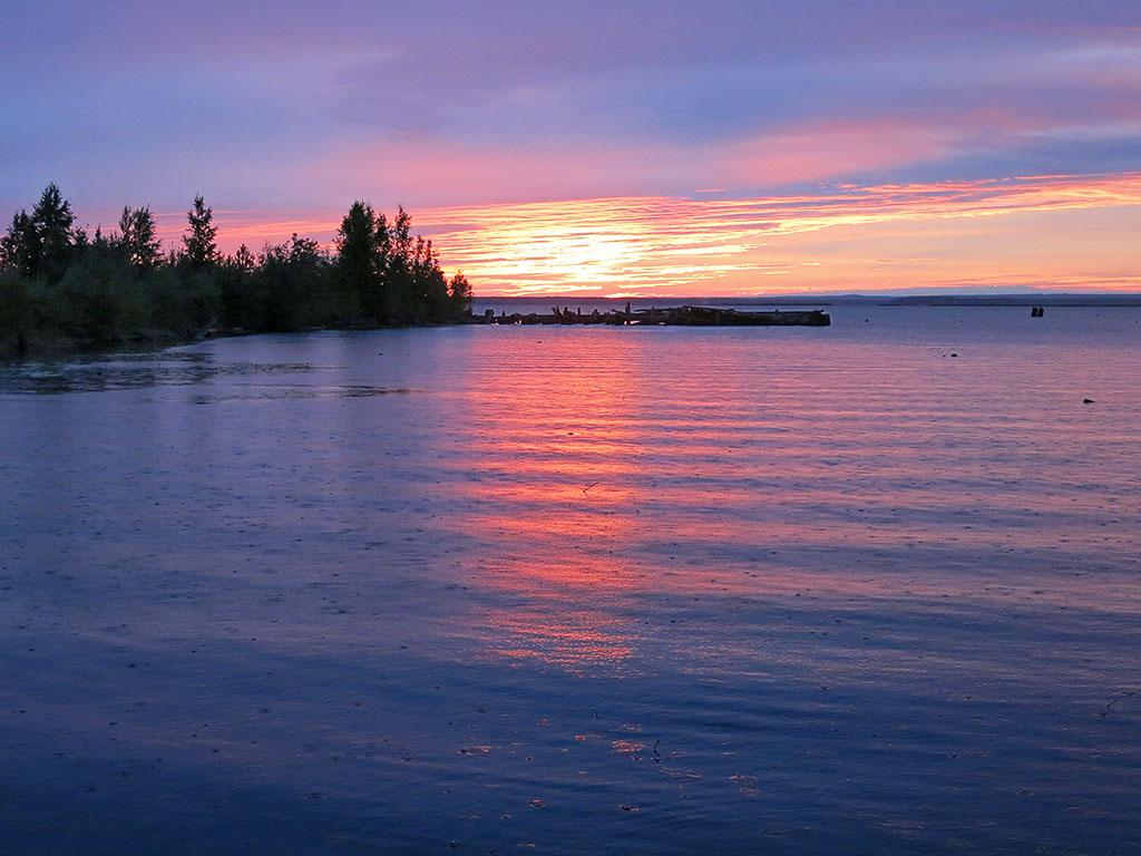 Закат над Онегой