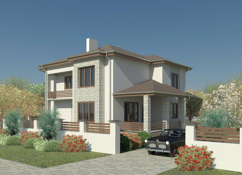 частный дом, визуализация