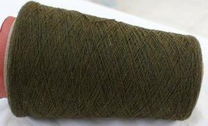 4538. Кашемир  Т. зеленый с желто коричневым меланжем;.JPG