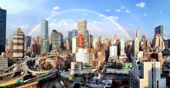 Радуга над Нью Йорком