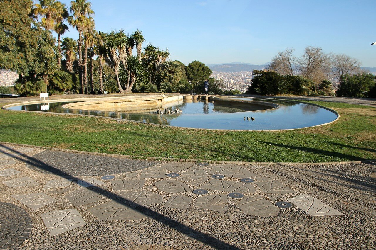 Barcelona. Mirador del Alcalde Park (Jardins del Mirador del Alcalde)