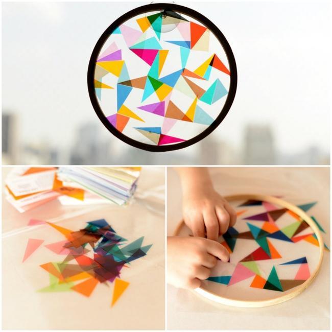 6. Из цветных стекол можно соорудить линзу для преломления света. Так можно выучить не только основн