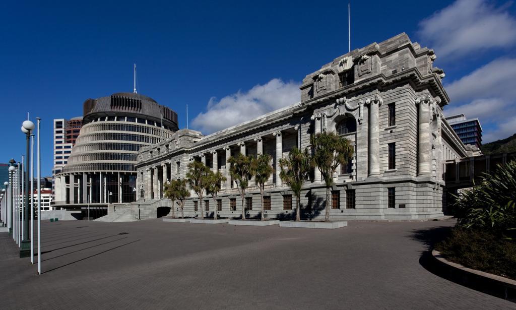 Новая Зеландия. Веллингтон. Здание парламента Новой Зеландии. 1907 году здание было уничтожено в