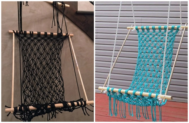 © shylohbelnap.com  © ehow.com  Плетеный гамак для любителей рукоделия. Но, впринципе,