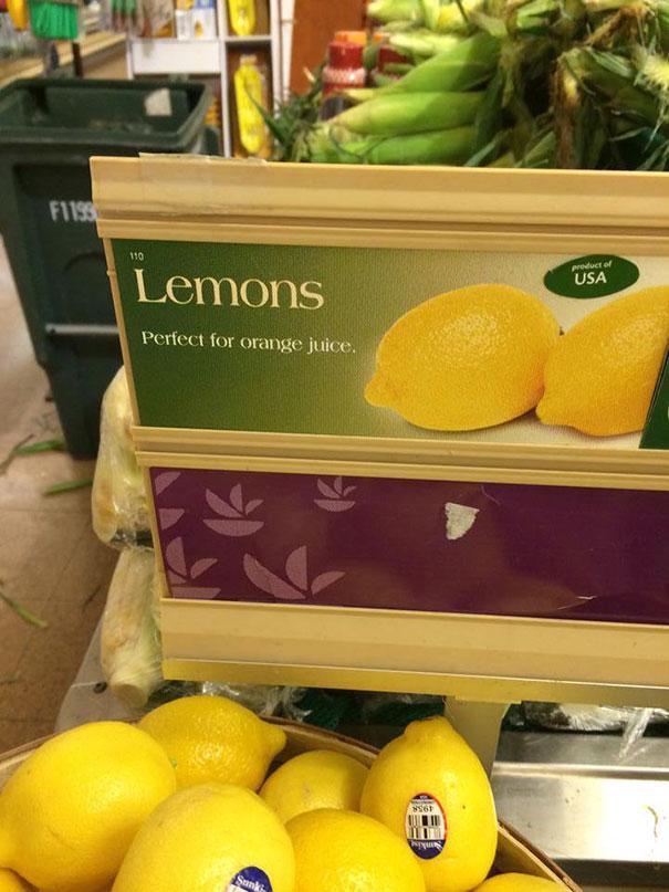 Лимоны: идеально для апельсинового сока!
