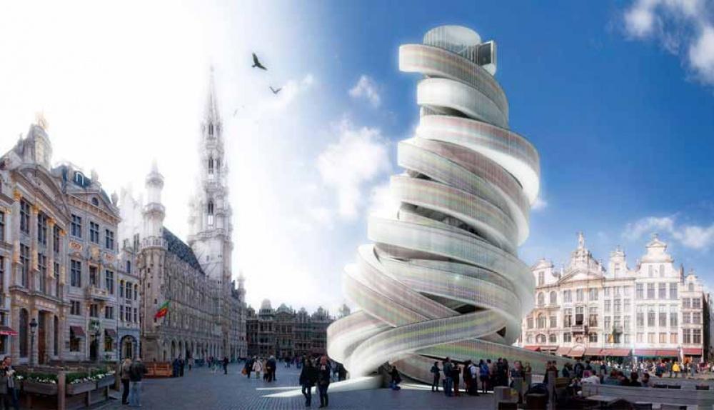 Специалистами изитальянского бюро MADEOFFICE был спроектирован проект «европейской спирали» для Брю
