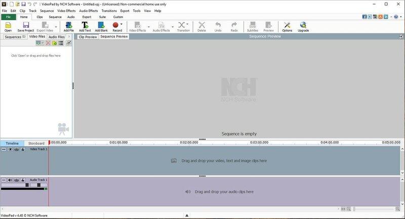 VideoPad4.30 - легкий видео редактор