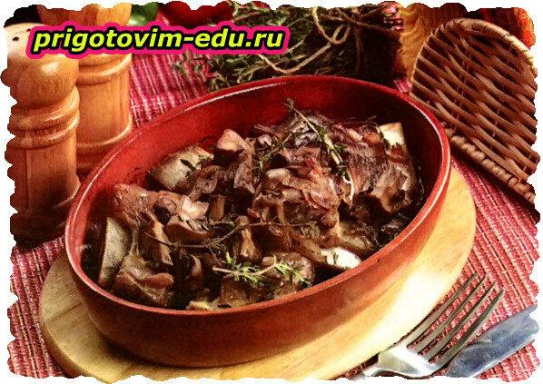 Говяжьи ребрышки с грибами запеченные в духовке