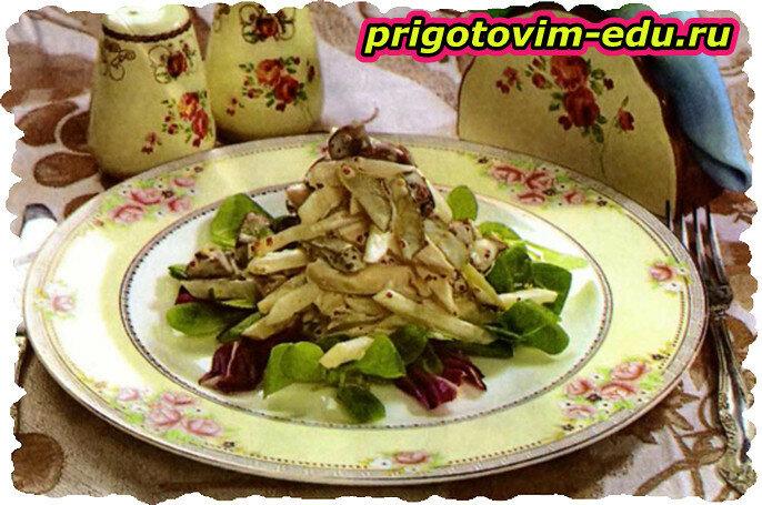 Салат с грибами по-английски