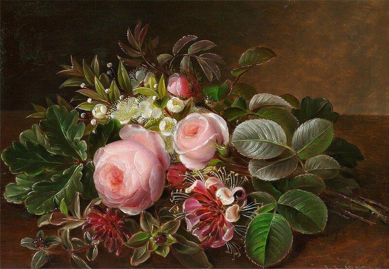Букет из роз, мирта и жимолости.jpg