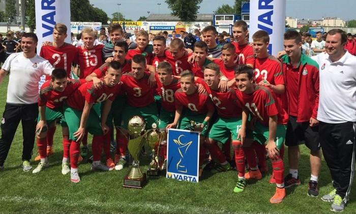 Команда Академии Локомотив 2001 года рождения - победитель международного турнира SK Rapid U15 VARTA - 2016