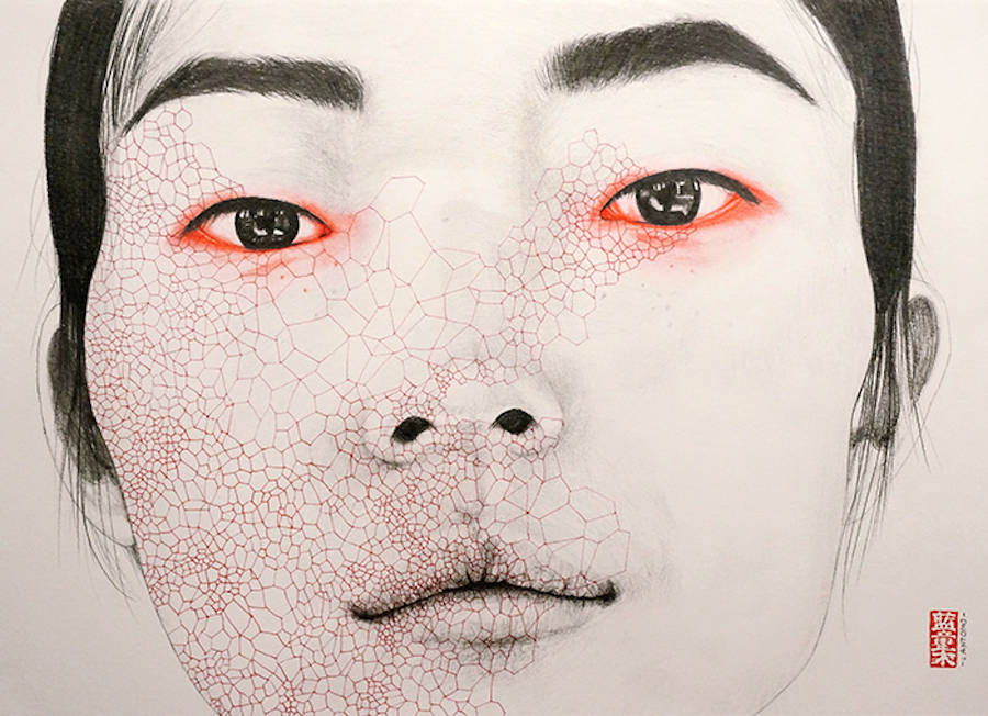 Oddly Beautiful Mixed-Media Portraits (9 pics)