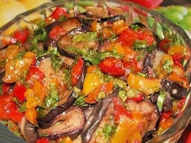Рецепт баклажаны жареные с овощами