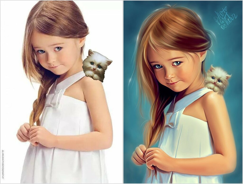 До и после фотошопа