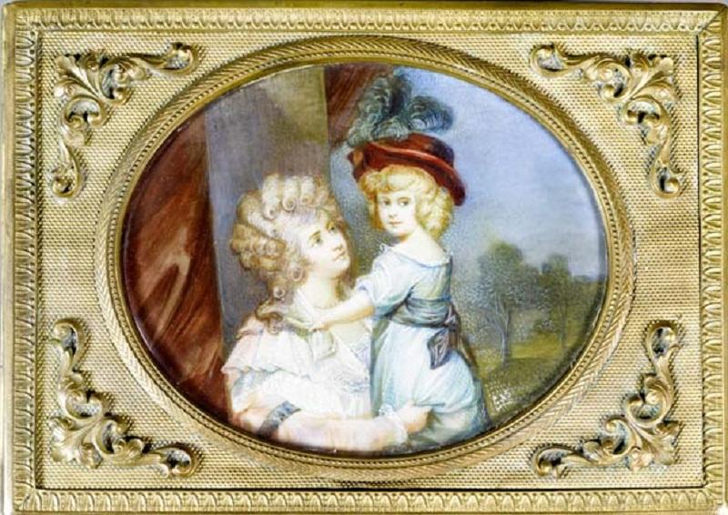 Табакерка с портретом Джорджианы, 5-й герцогини Девонширской, и ее дочери..jpg