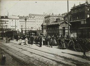 1917. Прибытие беженцев из пригородов  на Восточный вокзал