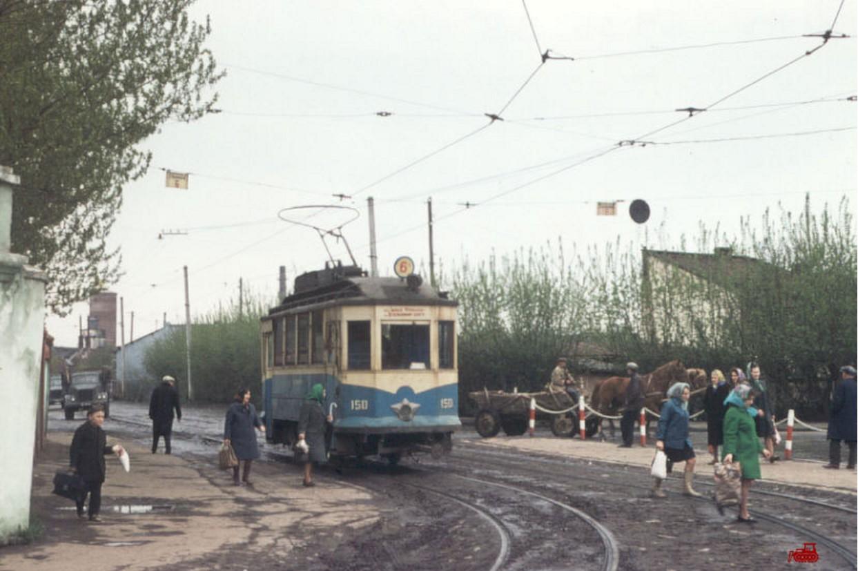 Львов. Вагон 150 на маршруте 6А «Улица И.Франко – Центр»