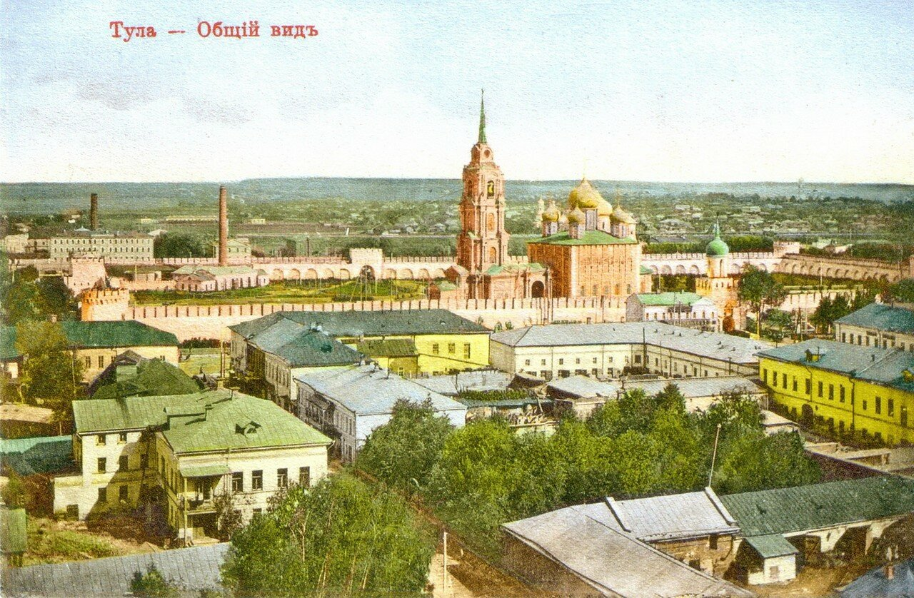 Общий вид с колокольни церкви Спаса Преображения