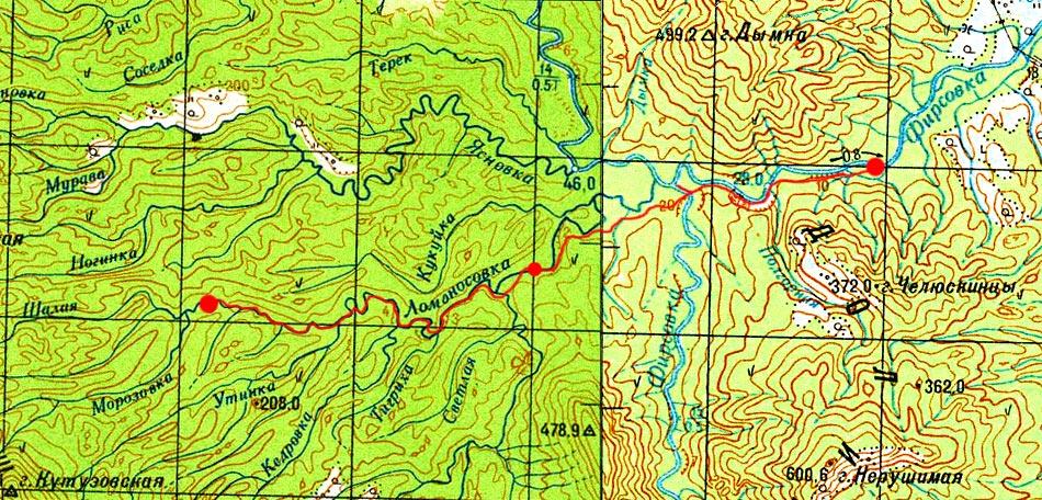 Карта маршрута 24 августа