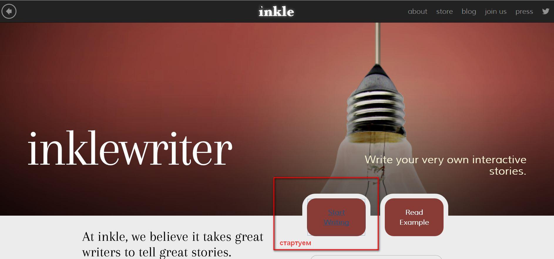 Inklewriter: истории с нелинейным сюжетом