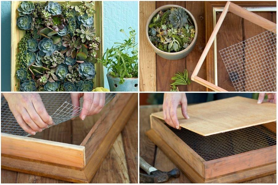 Вертикальная зеленая стена или мини-вертикальный сад для балкона, кухни, патио