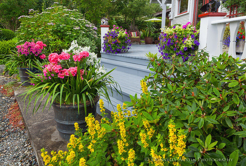 Красивый дизайн в частных садах (остров Вэшон-Мори)