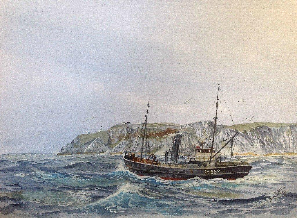 Trawler Athenia passing St Abbs Head.