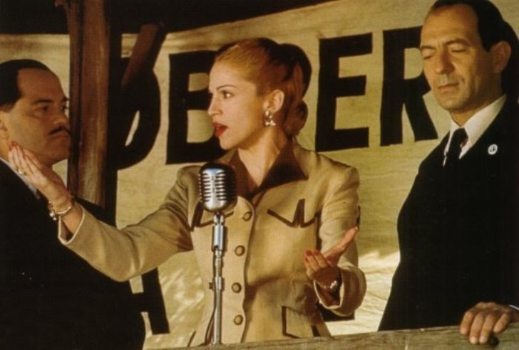 Мадонна в фильме «Эвита», 1996