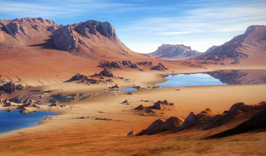 3. Потребовалось всего лишь несколько тысяч лет, чтобы оазис превратился в раскаленную пустыню.