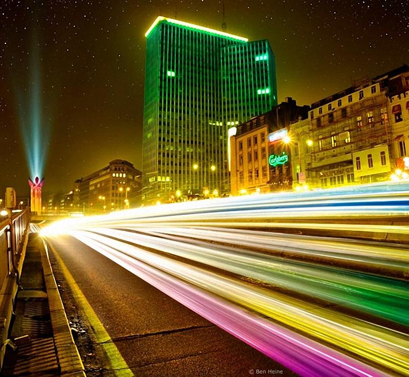 24. Ночной Брюссель.