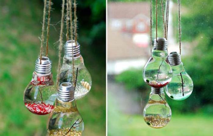 13 оригинальных идей, как превратить старую лампочку в настоящее произведение искусства