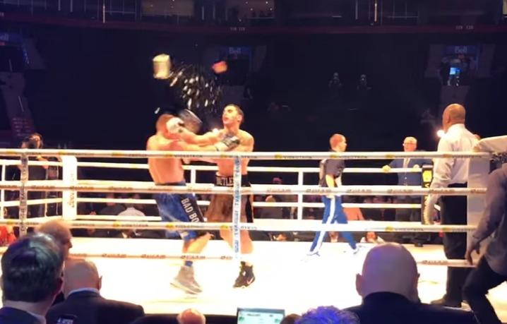 Боксер был нокаутирован ведром сольдом сразу после собственной победы