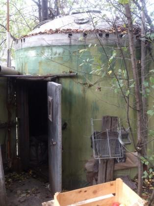 баня из купола МБР