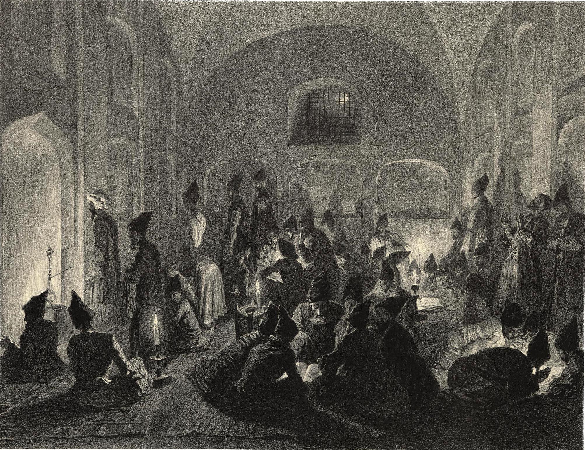 19. Armenie. Mosquee persane a Erivan / Армения. В персидской мечети в Эривани. Вечер во время Рамазана