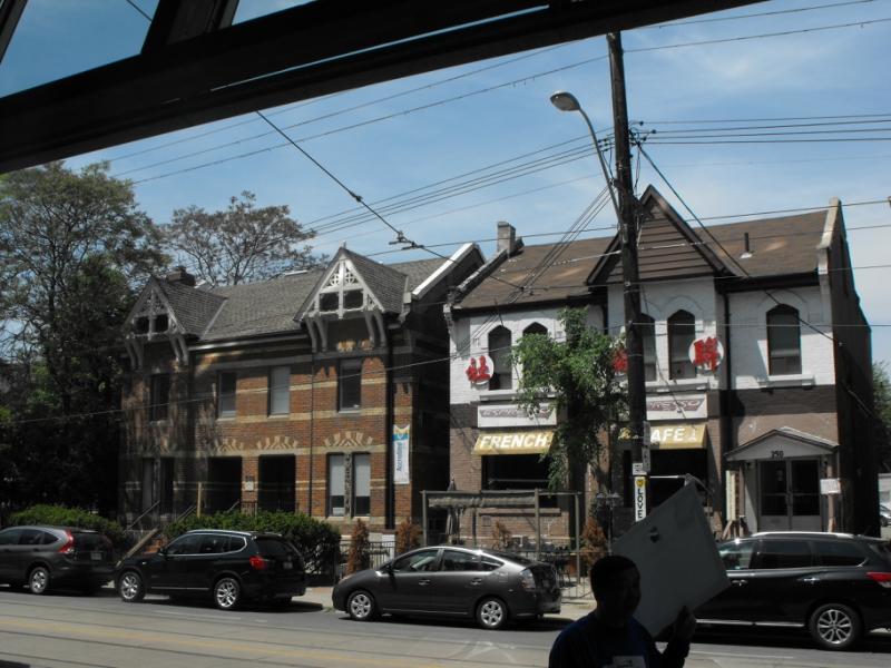 Buildings on Dundas St. opposite AGO.