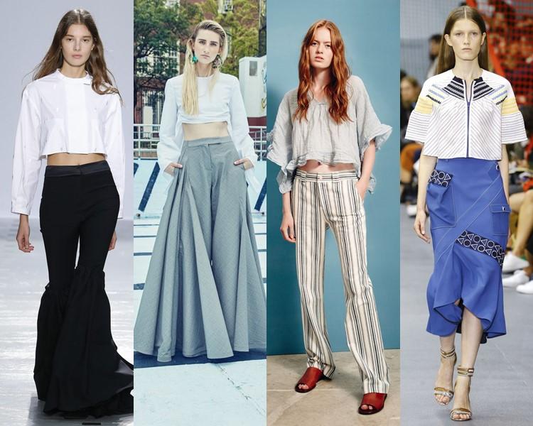 Короткие блузки весна лето 2016