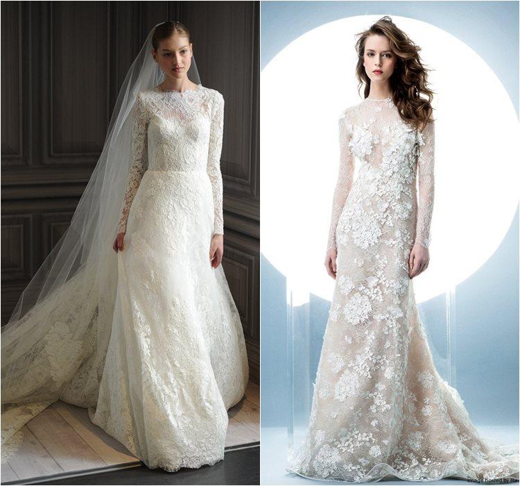 Кружевные свадебные платья 2016 фото 7
