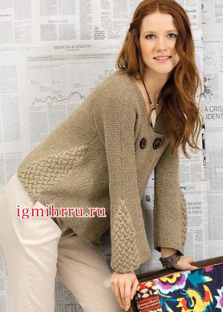Вязание плетеного узора