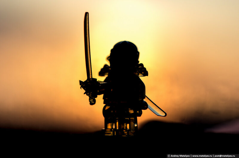 закат воин с мечом