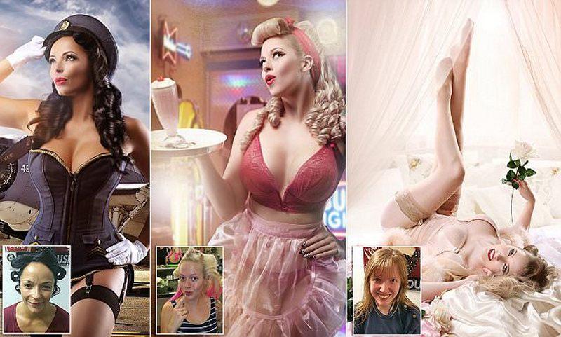Фотограф превращает обычных женщин в пин-ап красавиц