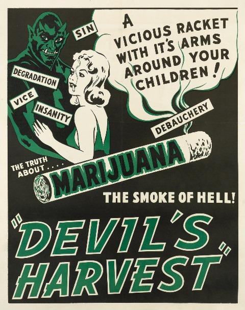 DEVILS HARVEST WINDOW CARD