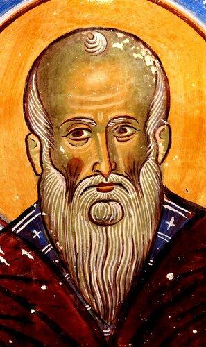 Святой Эндоксос. Фреска церкви Христа Антифонитиса (Отзывающегося), Кипр. XII век.